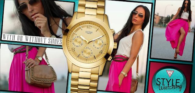 GUESS Watches vuelve a contar con WITHORWITHOUTSHOES como imagen de su página de Facebook