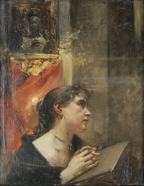 Eduard Veith - Praying in the Church