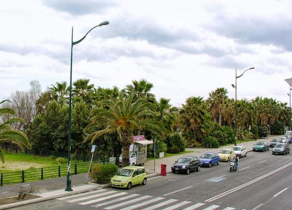 piazza Sciascia, prima della costruzione del parcheggio