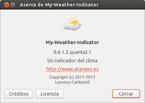 My-Weather-Indicator con Underground y World Weather Online bajo clave