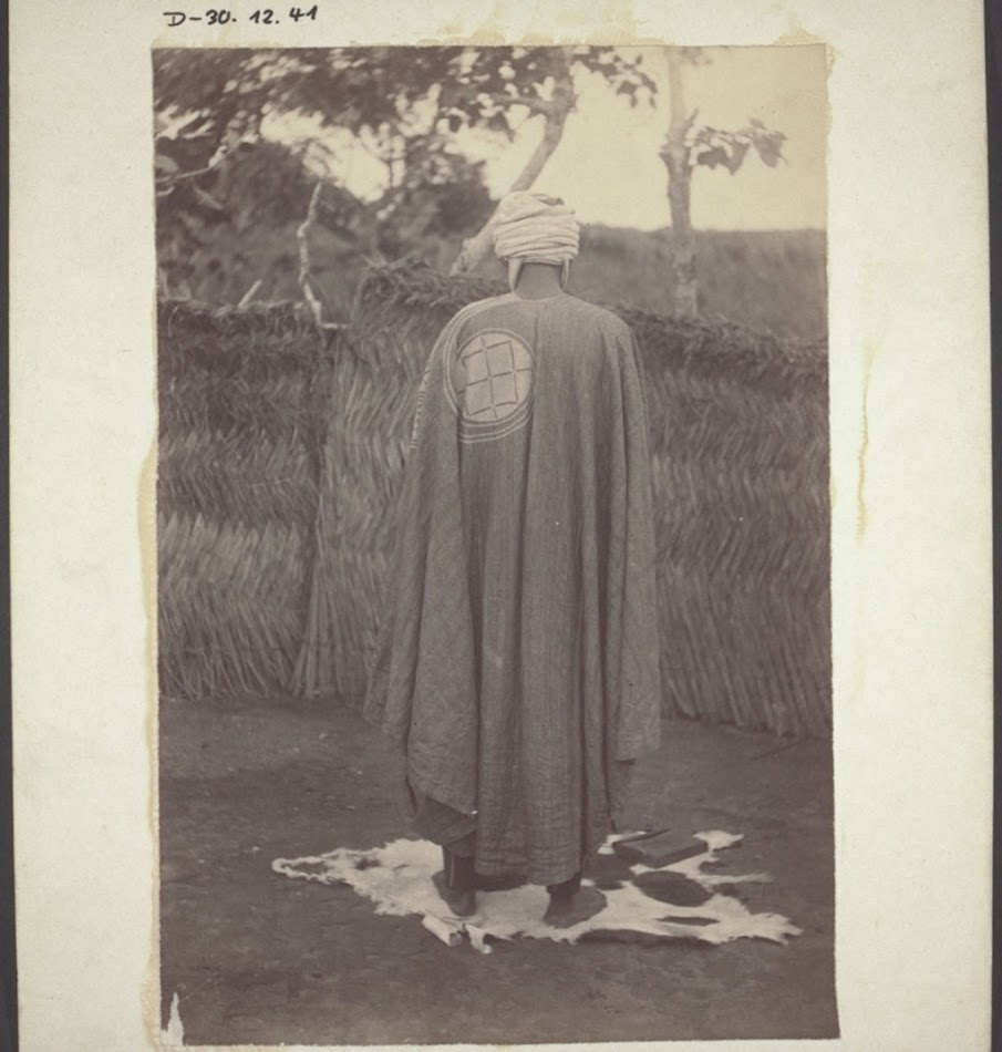 A Hausa priest in Winnebah at prayer, facing Mecca, and