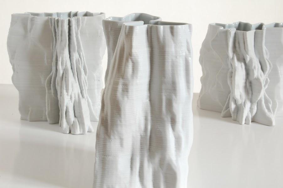 Jonathan Keep - Icebergs, ceramic 3D print