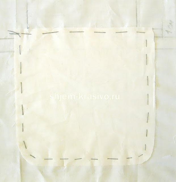 карман в рамку обработка