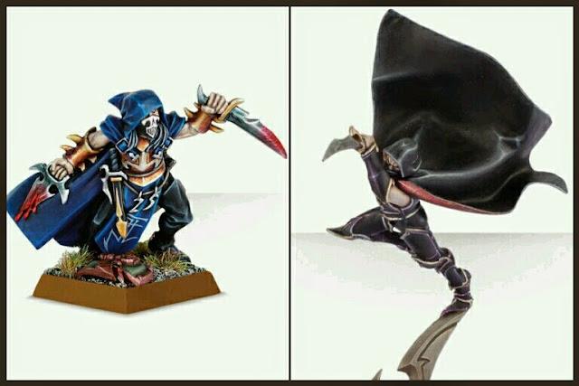 Personajes Asesinos Elfos Oscuros de Warhammer Fantasy Games Workshop