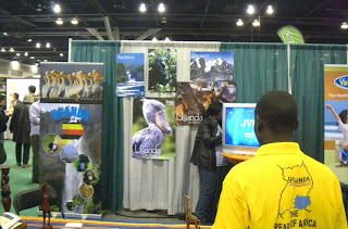 Uganda booth at Vancouver Outdoor Adventure and Travel Show