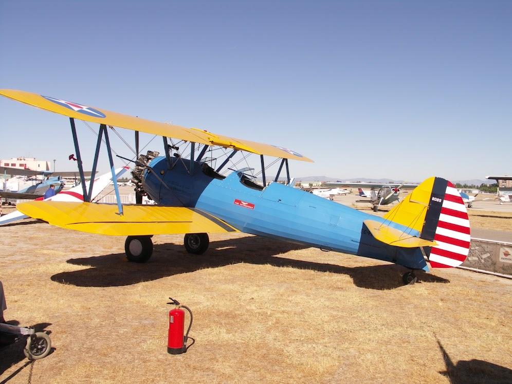 """Exhibición aerea de la Fundación """"Infante de Orleans"""". BOEING+PT-17+STEARMAN"""
