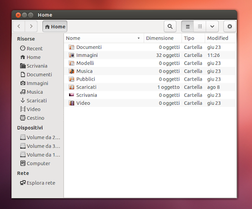 Nautilus 3.6 su Ubuntu 12.10 Quantal