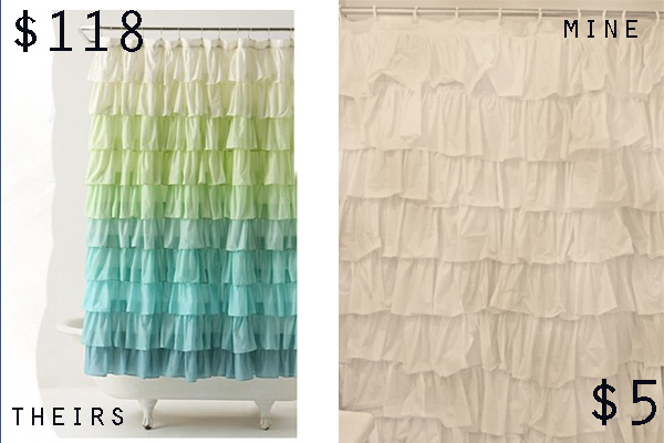 Anthro Inspired Ruffle Shower Curtain Tutorial | So You Think You ...