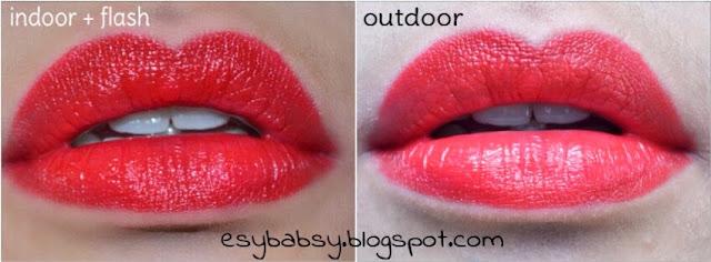 Wardah Exclusive Lipstik No 29 Lavender; Page - 3. Di glide .