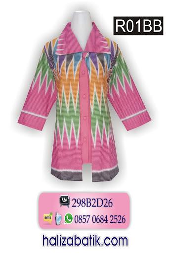 contoh batik, blus batik modern, butik batik