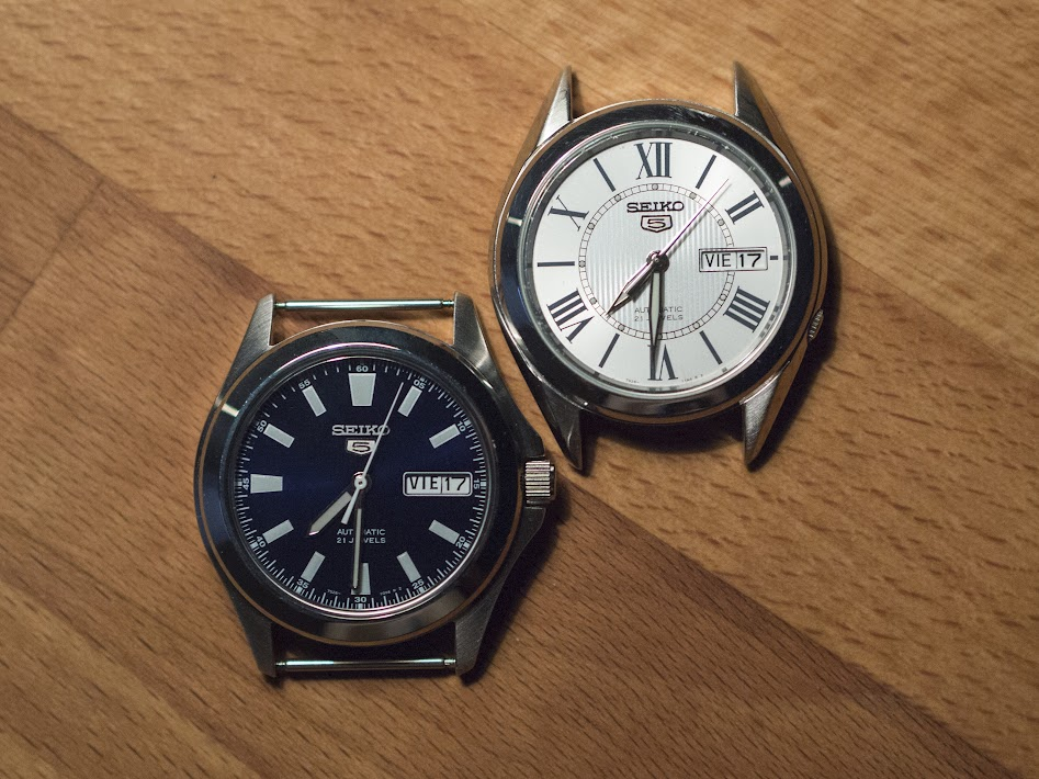 The Seiko SNKL07 and SNKL29. The 29 has an 18mm lug width, while the 07 has a 20mm.