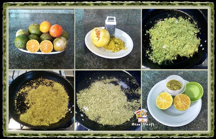 Raspas de casca de limão
