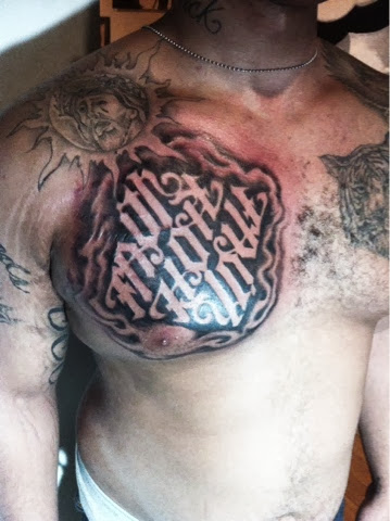 Kintoz negative shading letter tattoo for How to shade tattoos
