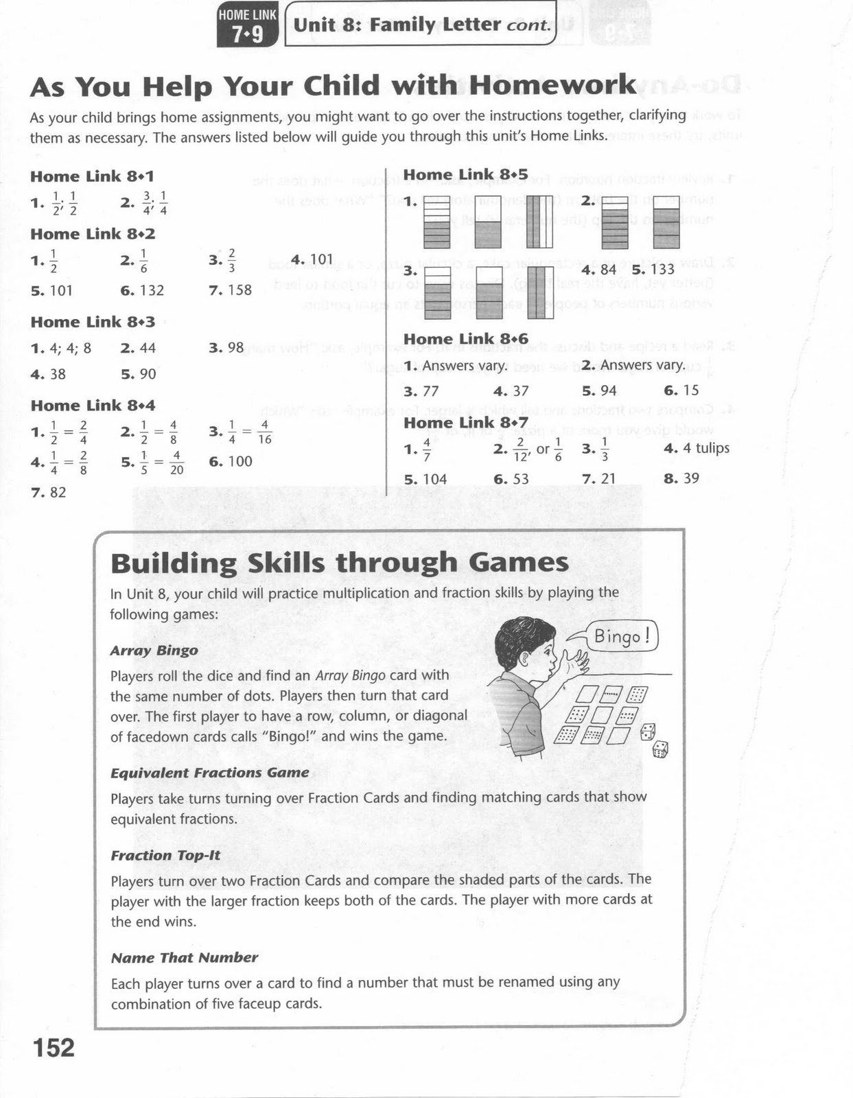 Printables Everyday Mathematics Worksheets omega unlimited parents crib sheet for fractions everyday mathematics worksheet