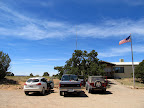 Hans Flat ranger station where Richard left his Nissan and piled in with me in the F-250