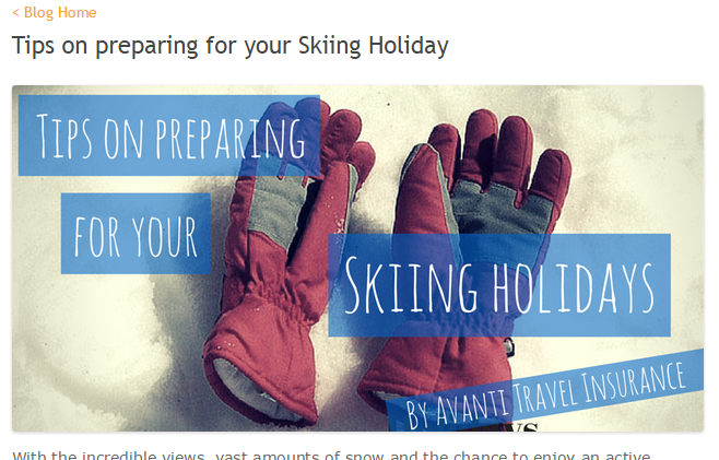 Helpful tips for Skiing holidays