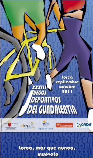 Cartel XXXIII Juegos Deportivos del Guadalentín