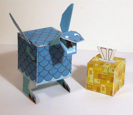 Sniffles Frost-Breathing Dragon Paper Toy