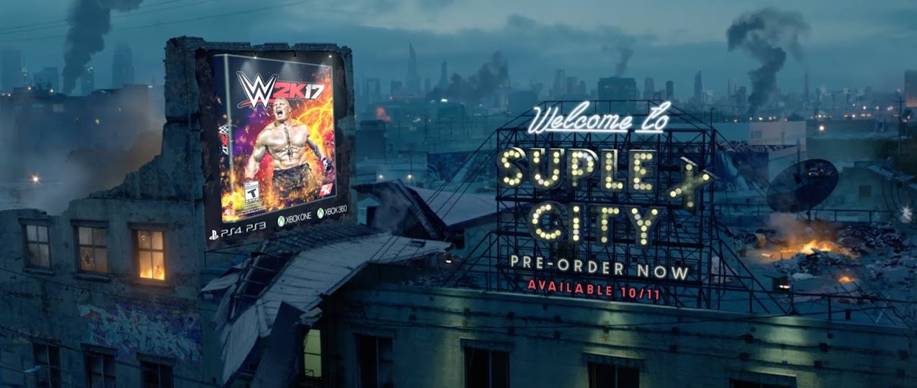 "WWE 2K17 Sports ""Welcome To Suplex City"" — new spot opens on the outskirts of a post-apocalyptic city in ruins"