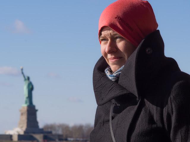 Posing on the Staten Island ferry