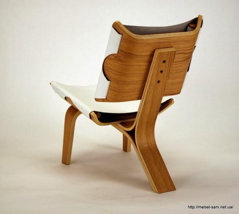 Вид на фанерное кресло сзади