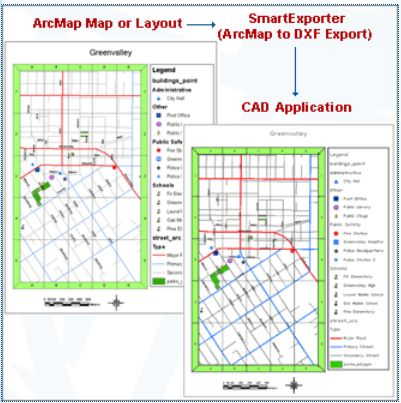 MAP: Layout Conversion ArcMap (MXD) to CAD (DXF / DWG) By default ...