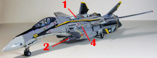 Macross Frontier VF-25S Messiah Renewal Version Armament weapon position
