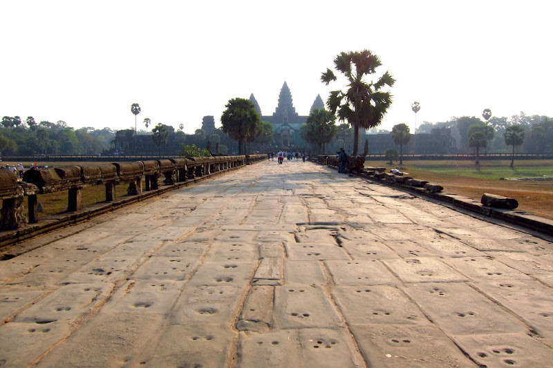Approach to Angkor Wat