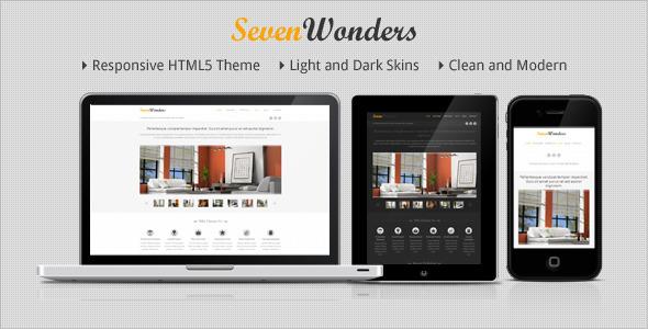 Themeforest SevenWonders - Clean Responsive WordPress Theme