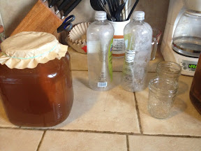 Kombucha jar, 1 liter bottles and 8oz mason jars