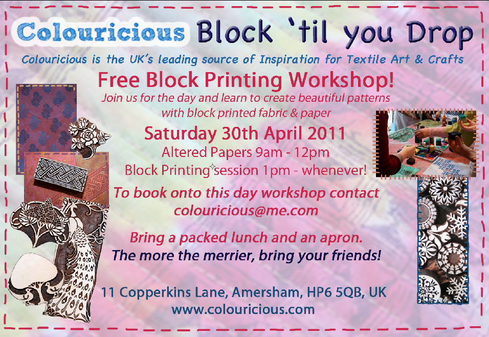 Free Block Printing Workshop