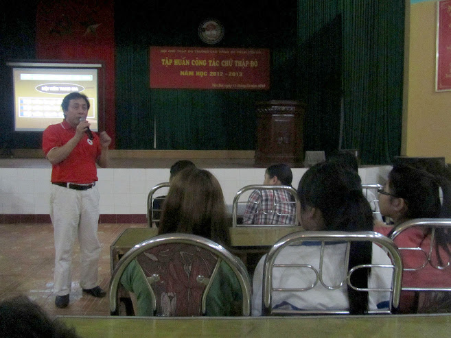 Tập huấn công tác Chữ thập đỏ năm học 2012-2013 tại Trường Cao đẳng Sư phạm Yên Bái
