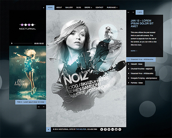 Nocturnal WordPress Theme for Musicians