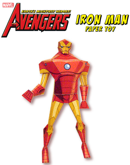 The Avengers Earths Mightiest Heroes Iron Man Paper Toy