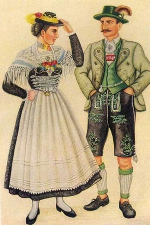 Одежда баварцев