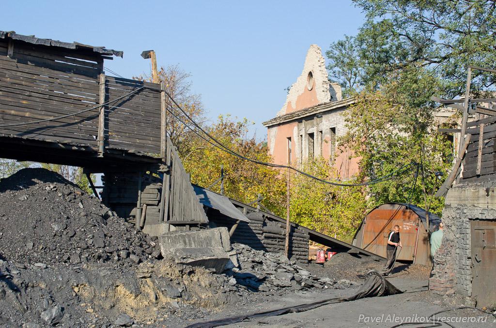 Наклонный ствол частной шахты