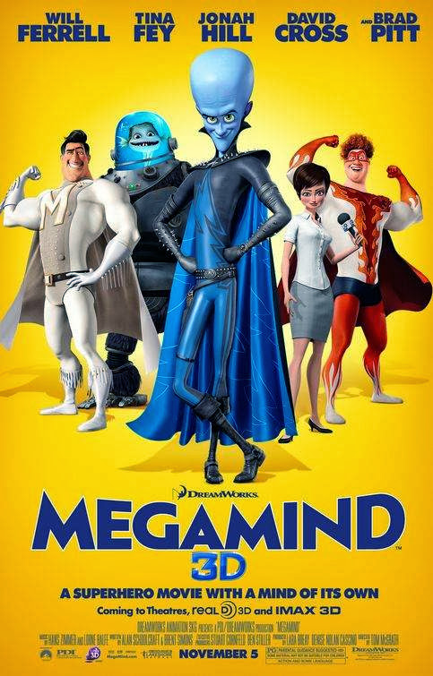Poster Of Megamind (2010) Full Movie Hindi Dubbed Free Download Watch Online At Alldownloads4u.Com