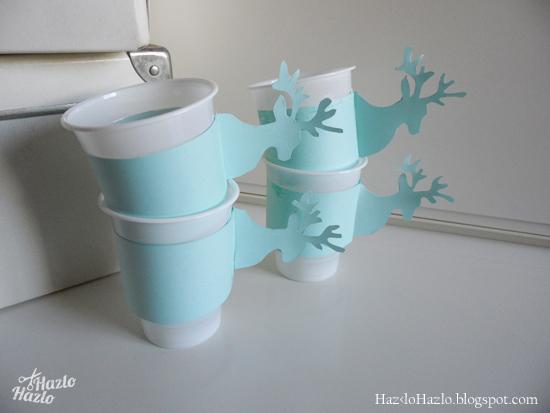 C mo decorar vasos de pl stico para una fiesta de invierno - Decorar vasos plasticos para cumpleanos ...