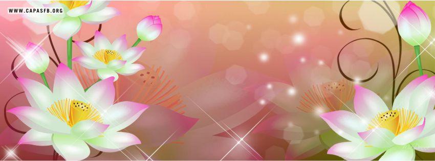 Capas para Facebook Flores