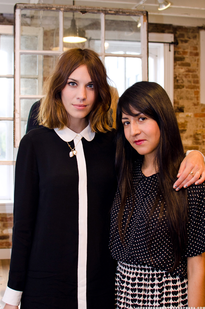 Alexa Chung and Carla at Georgetown launch party