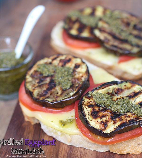 Grilled Eggplant Sandwich | www.thepeachkitchen.com