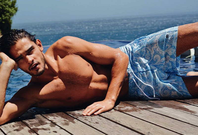 Brazilian Model Marlon Teixeira for Scapa SS13 [men's fashion]