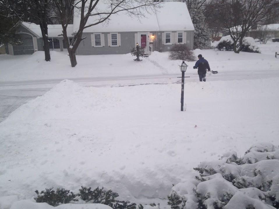 Snow shoveling 2-13-14