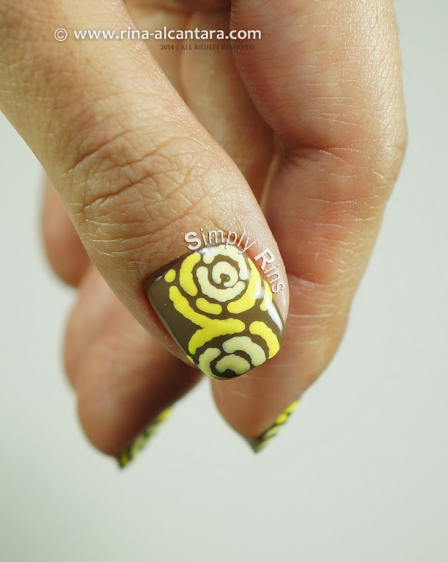 Merry Go Yellow Nail Art