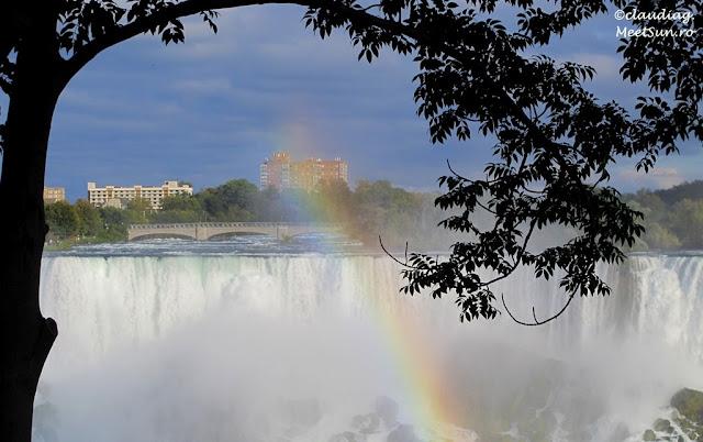 curcubeu la cascada Niagara