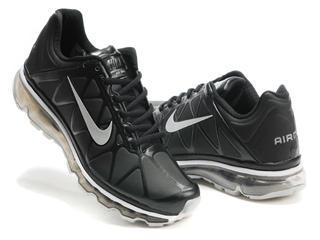 ... nike air max 2011 leather black/metallic silver ...