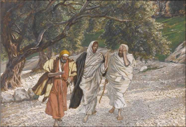 The Pilgrims of Emmaus, by James Tissot (1836-1902)