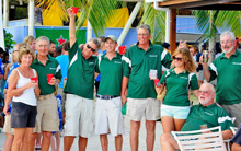 J/95 Shamrock VII celebrating Class win at BVI Spring Regatta