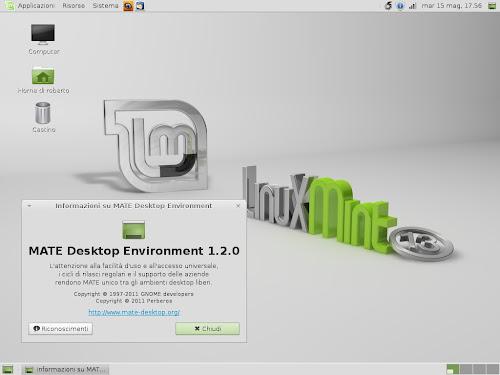 Linux Mint 13 Maya - Mate