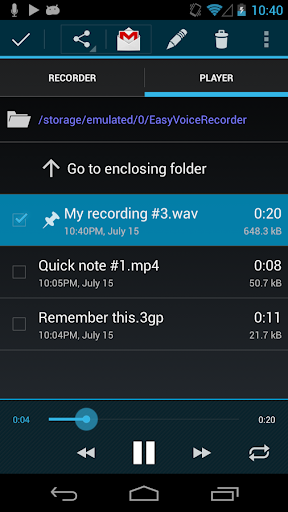 Easy Voice Recorder Pro v1.7.5.a for Android
